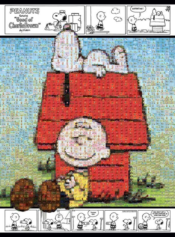 Snoopy and Charlie Brown Cartoons Jigsaw Puzzle