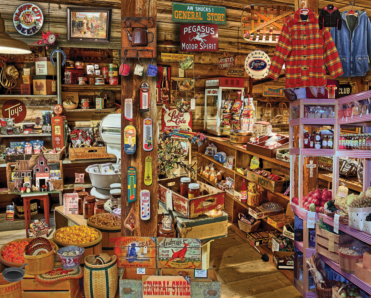 Country Store - Seek & Find Nostalgic / Retro Jigsaw Puzzle