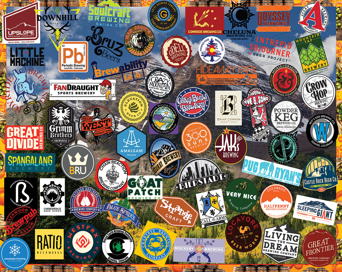 Colorado Craft Beer Collage Jigsaw Puzzle