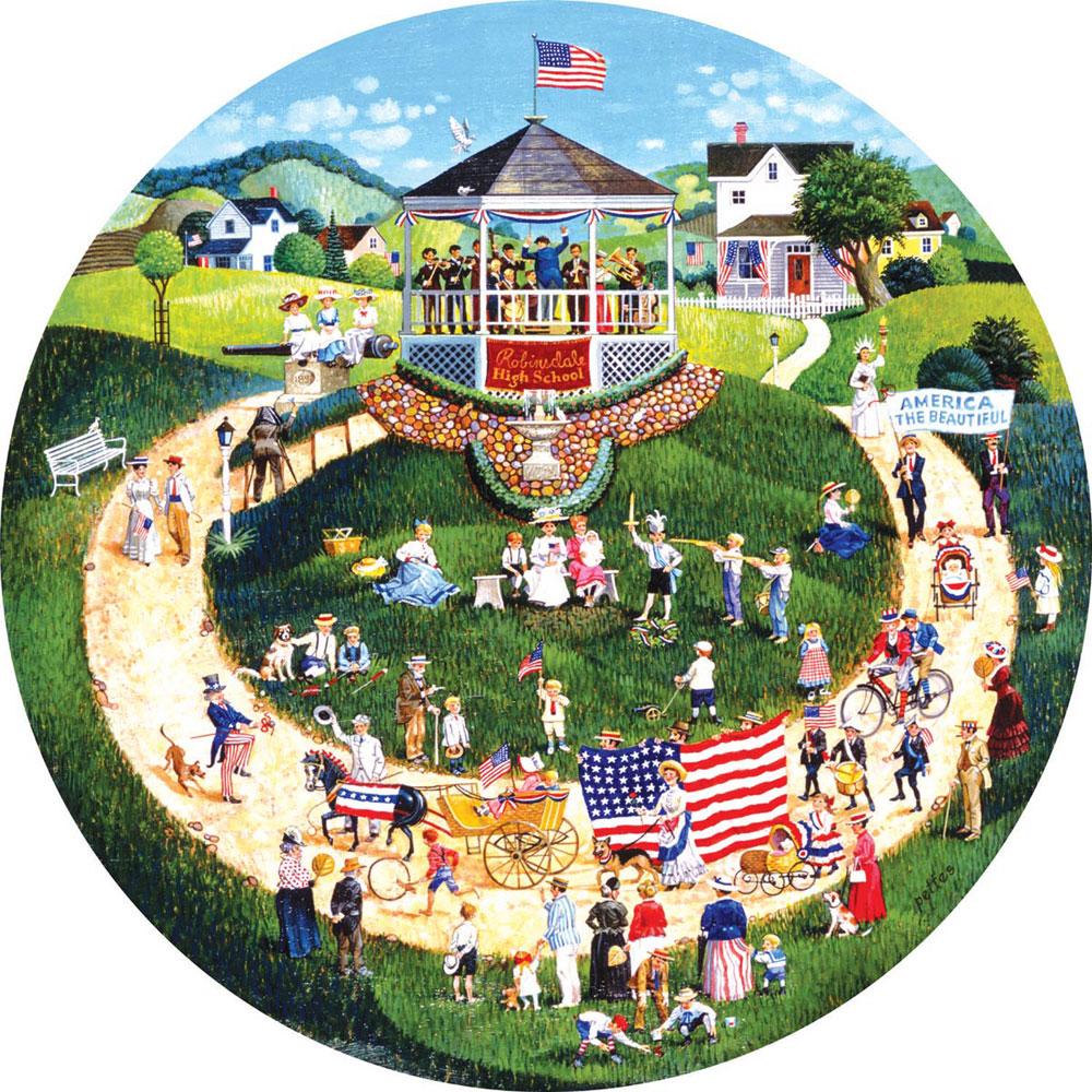 4th of July Parade Americana & Folk Art Jigsaw Puzzle