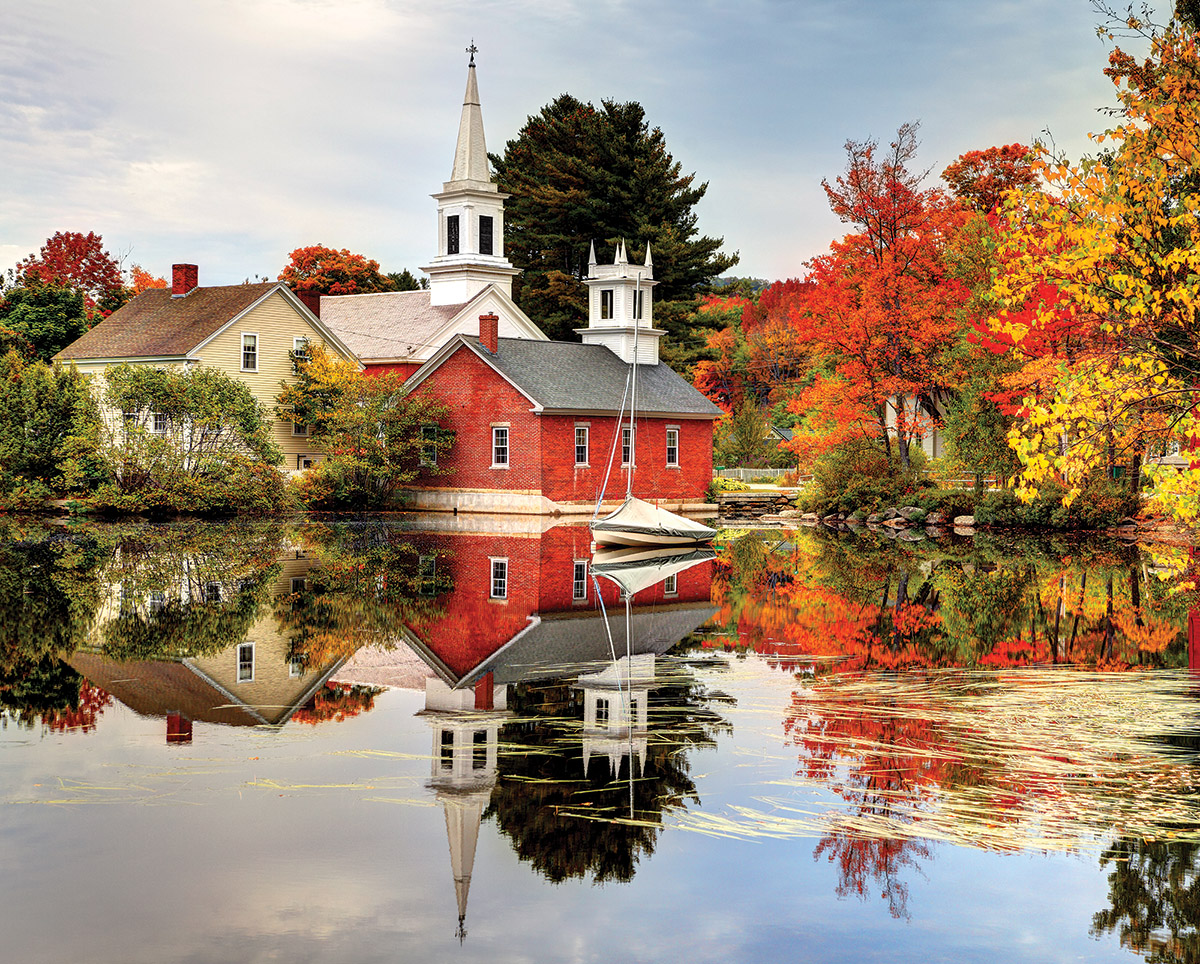 Autumn Reflections Fall Jigsaw Puzzle