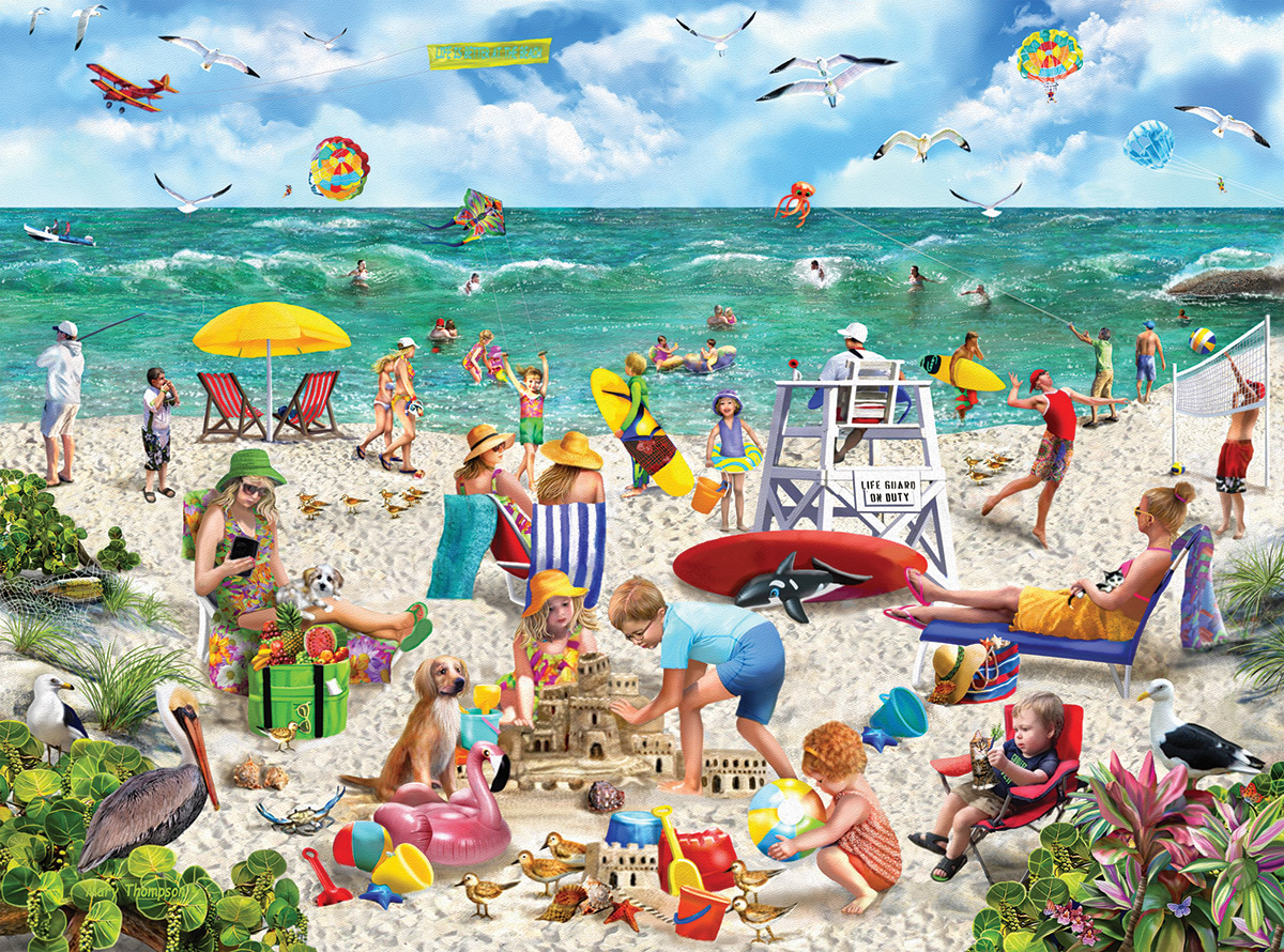 Beach Day - Seek & Hide Beach Jigsaw Puzzle