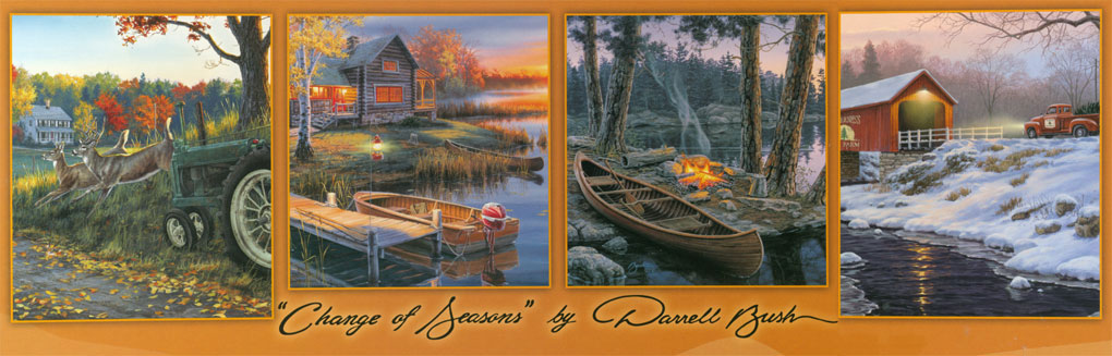 Change of Seasons by Darrell Bush Countryside Jigsaw Puzzle