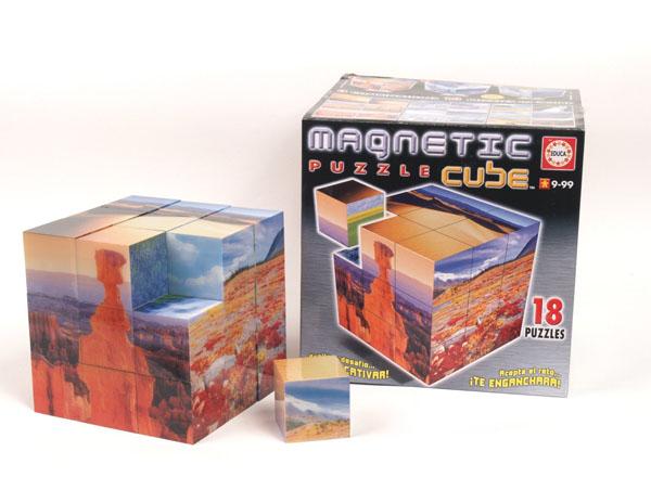 Magnetic Puzzle Cube - Landscapes (27 cubes) Landscape Jigsaw Puzzle