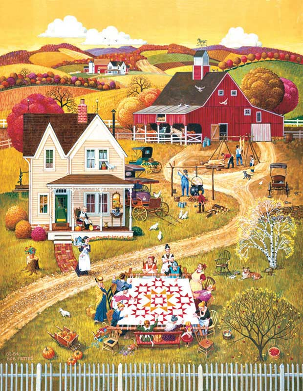 The Quilting Bee Countryside Jigsaw Puzzle