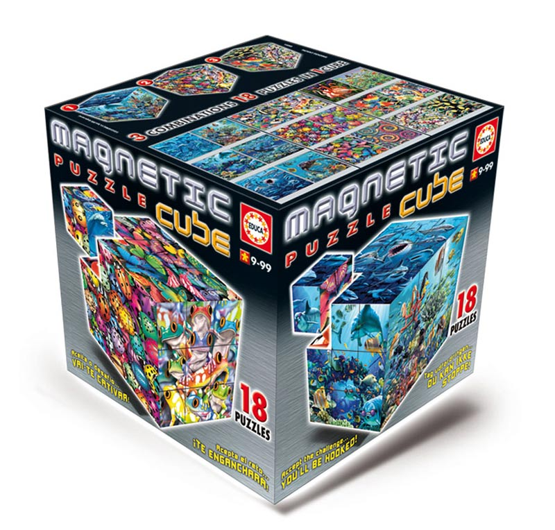 Magnetic Puzzle Cube - Royce Art (27cubes) Marine Life Jigsaw Puzzle