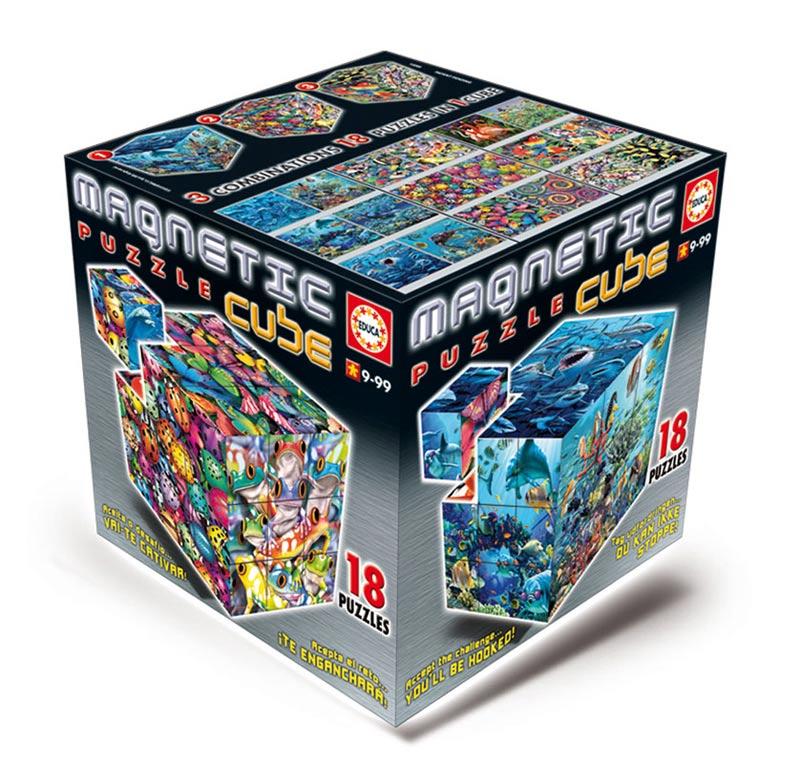Magnetic Puzzle Cube - Royce Art (27cubes) Marine Life Jigsaw Puzzle
