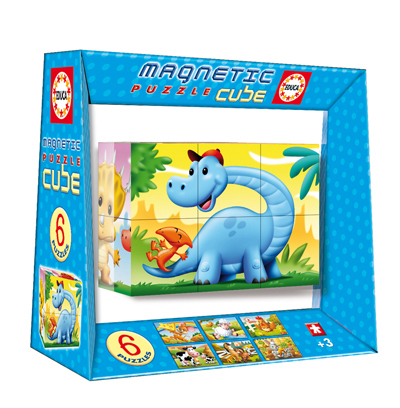 Magnetic Puzzle Cube - Dinosaurs (6 cubes) Dinosaurs Jigsaw Puzzle