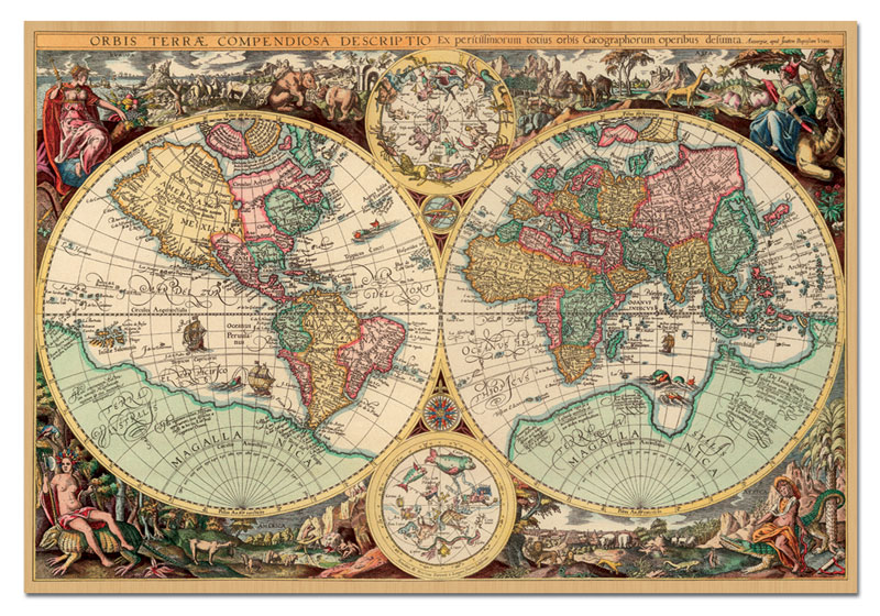 Ancient World Map   Scratch and Dent Jigsaw Puzzle