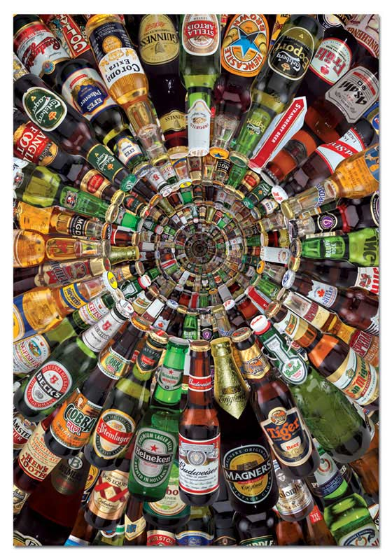 Beer Tunnel Collage Jigsaw Puzzle