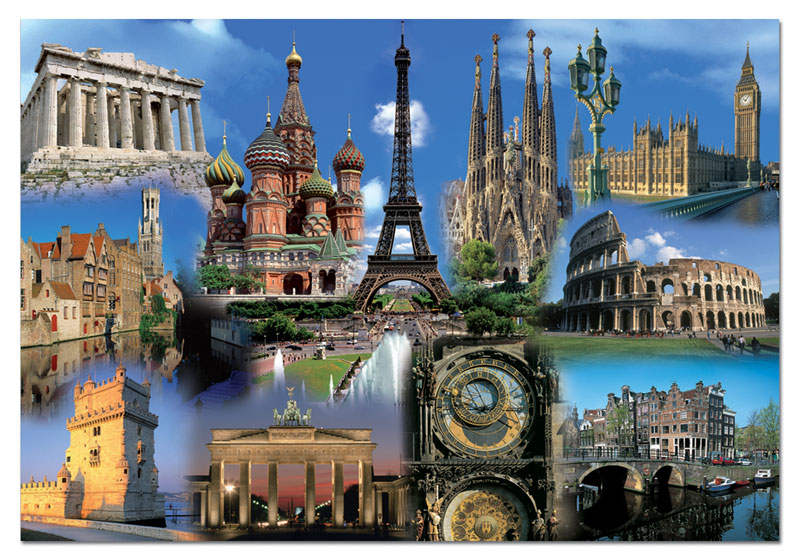 Europe Collage Colosseum Jigsaw Puzzle