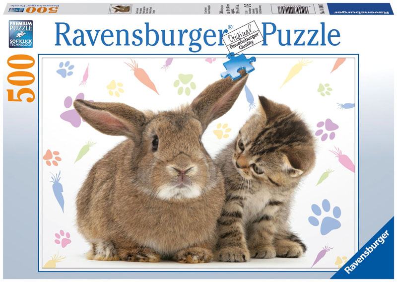 Unlikely Friends Cats Jigsaw Puzzle