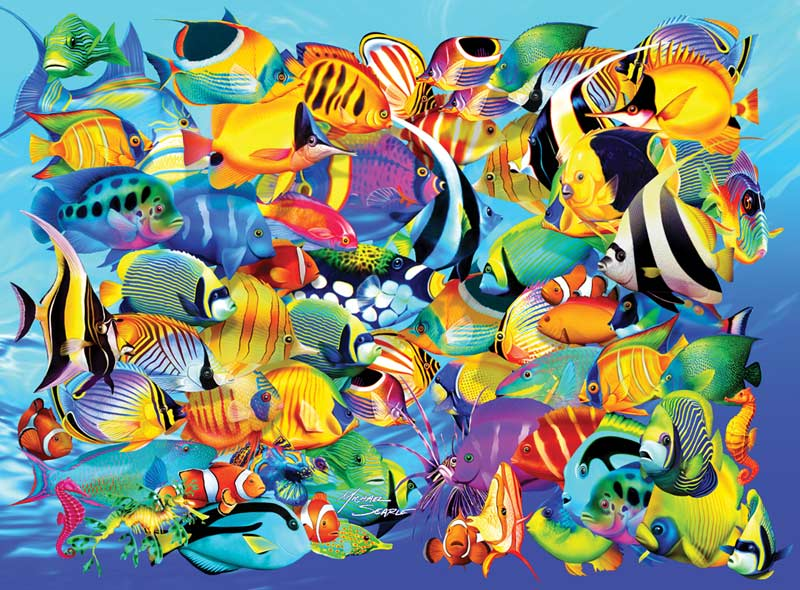 Fish Frenzy Fish Jigsaw Puzzle