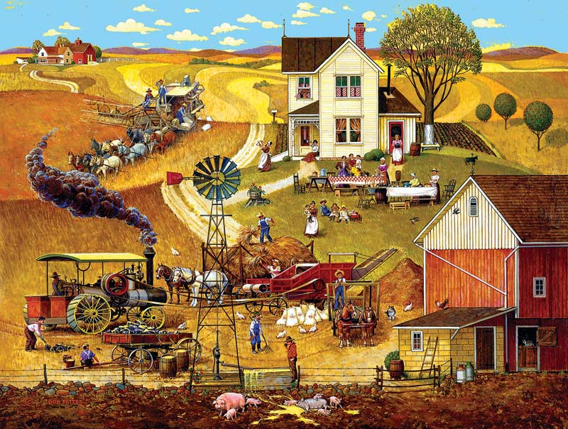 Harvest Time Countryside Jigsaw Puzzle