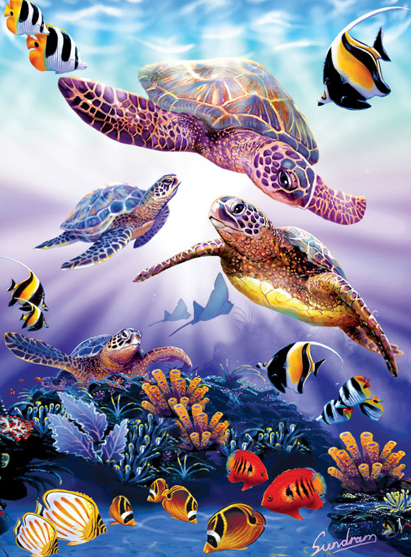 Turtle Play Marine Life Jigsaw Puzzle