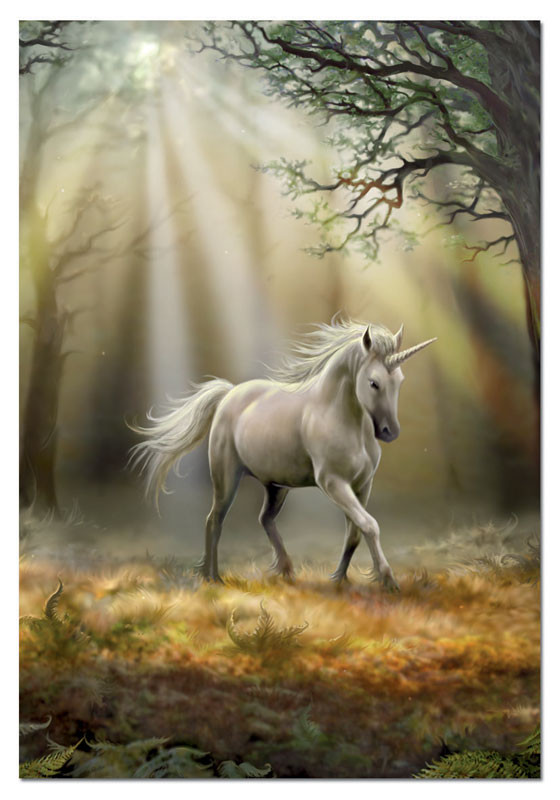 Glimpse Of A Unicorn, Anne Stokes Unicorns Jigsaw Puzzle