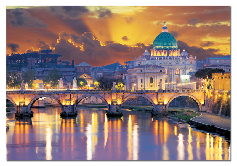 San Angelo Bridge, Rome Mother's Day Jigsaw Puzzle
