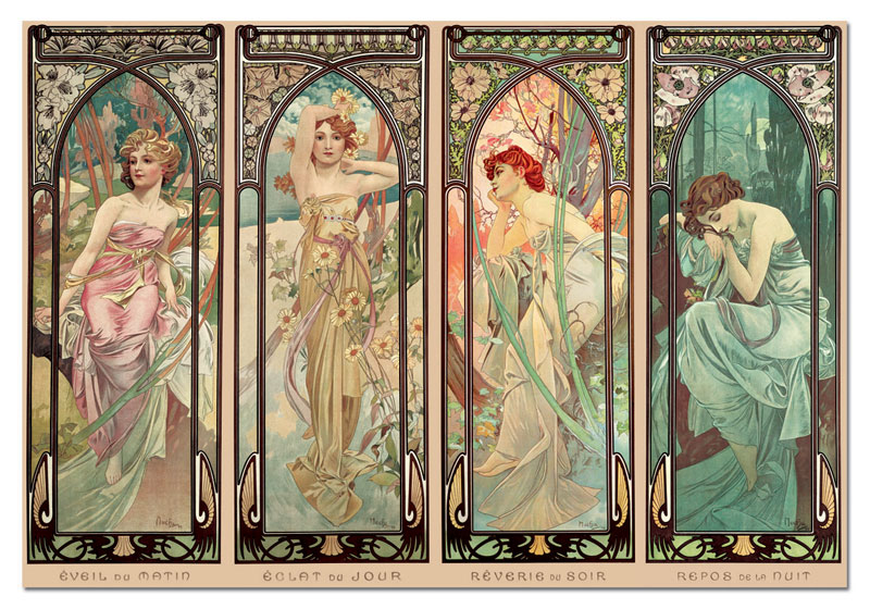 The Times Of The Day, A. Mucha Jigsaw Puzzle
