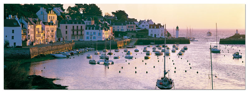 Dawn At Belle Ile Boats Jigsaw Puzzle