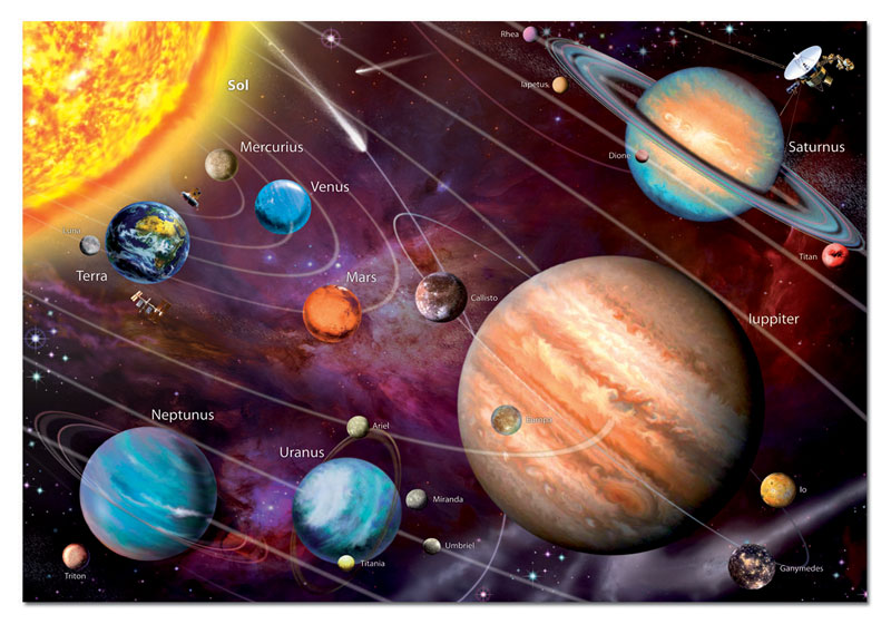 Solar System Space Glow in the Dark Puzzle