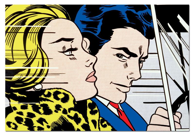 In The Car, R. Lichtenstein Contemporary & Modern Art Jigsaw Puzzle