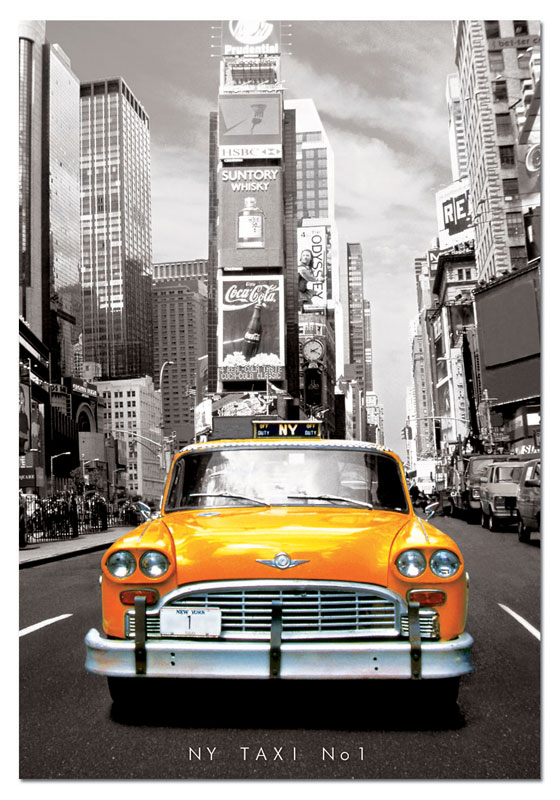 Taxi Number One, New York Cars Jigsaw Puzzle