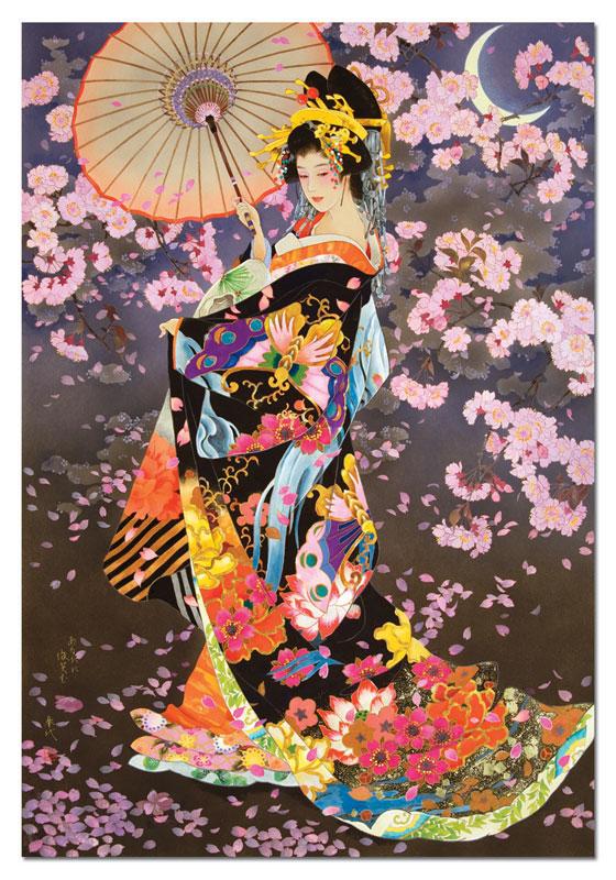 Yozakura Asian Art Jigsaw Puzzle