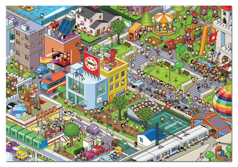 All Downtown Cartoons Jigsaw Puzzle