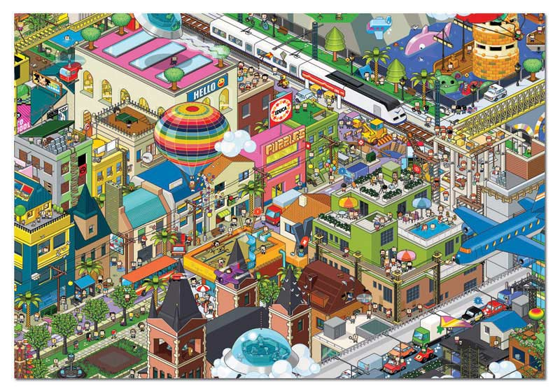 A Day In The City Jigsaw Puzzle