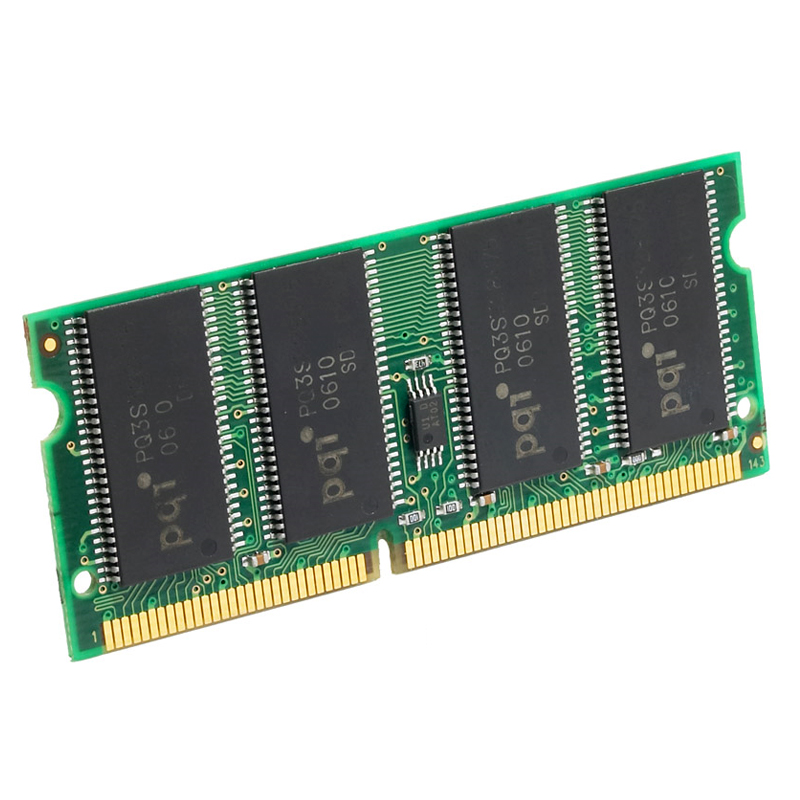 256MB SDRAM PC100 Non-ECC Unbuffered 144 Pin 3.3V CL=3 Memory Low Profile Converted Module.