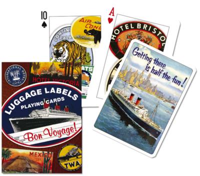 Luggage Labels, Single Deck Nostalgic / Retro Playing Cards