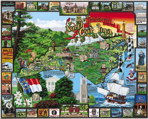 Historic North Carolina Landmarks / Monuments Jigsaw Puzzle