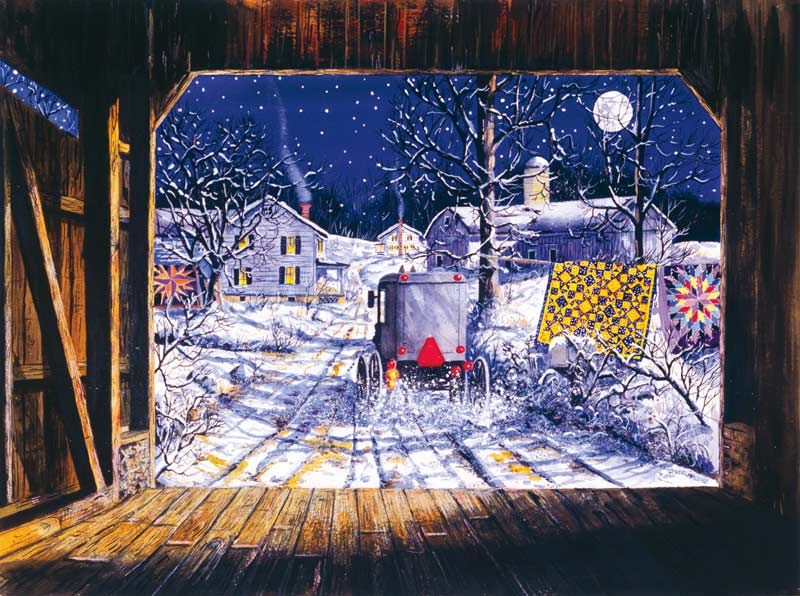 Almost Home Winter Jigsaw Puzzle