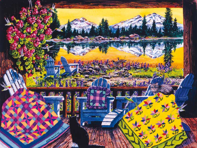 Day's End Mountains Jigsaw Puzzle