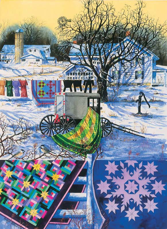 Amish Winter Quilting & Crafts Jigsaw Puzzle