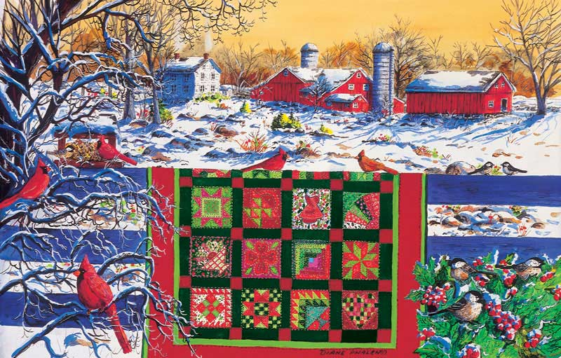 Winter Patchwork Crafts & Textile Arts Jigsaw Puzzle