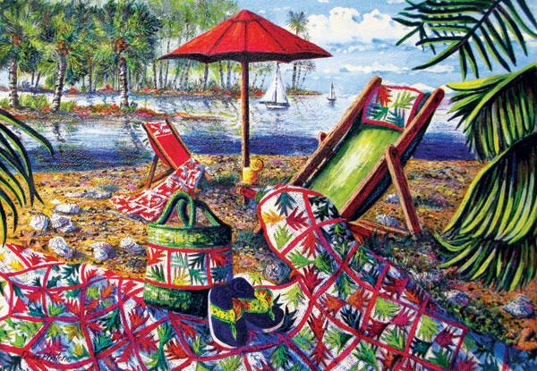 Beach Retreat Beach Jigsaw Puzzle