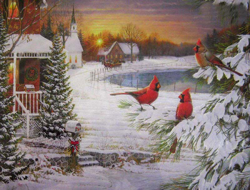 Twilight Trio Christmas Jigsaw Puzzle
