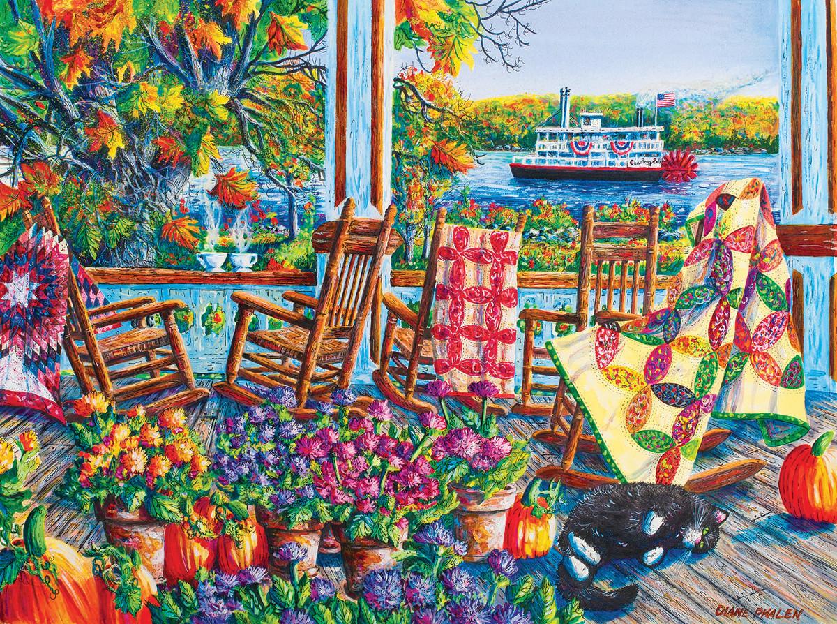 Quilting Around Chautauqua Crafts & Textile Arts Jigsaw Puzzle