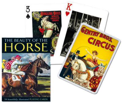 Beauty of the Horse, Single Deck Horses Playing Cards