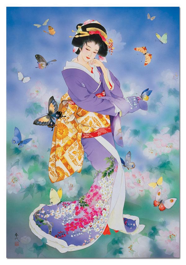 Chou No Mai Asian Art Jigsaw Puzzle