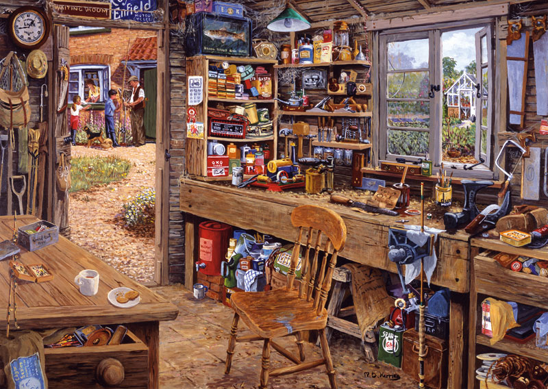Dad's Shed Father's Day Jigsaw Puzzle