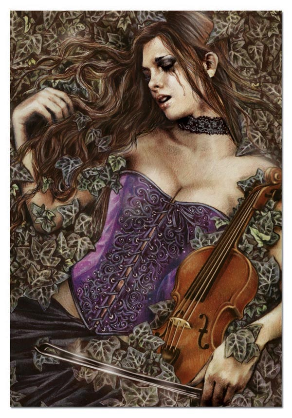 Fallen Leaves Gothic Jigsaw Puzzle