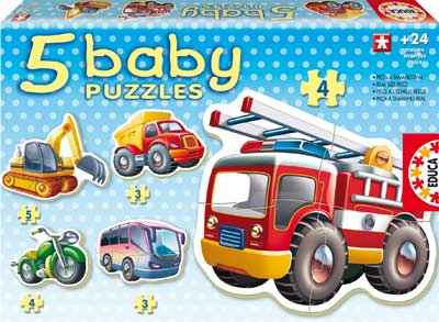 Baby Puzzle - Vehicles Motorcycles Jigsaw Puzzle