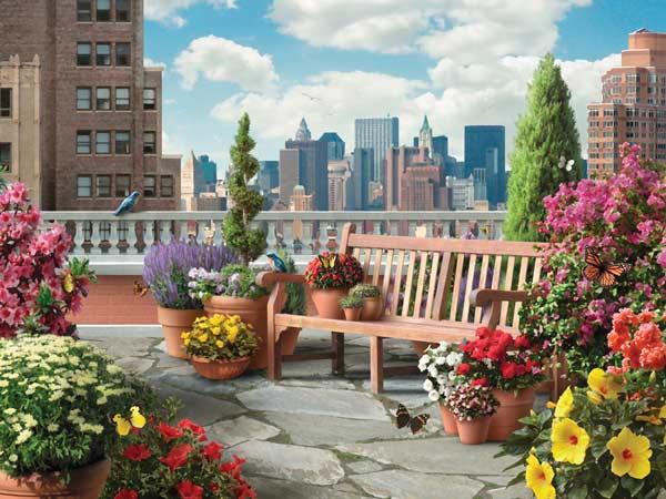 Rooftop Garden Garden Jigsaw Puzzle