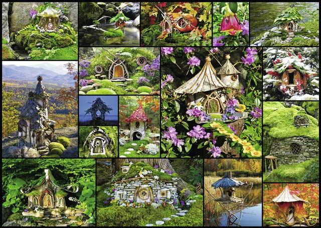 Fairy Houses Large Piece Puzzlewarehouse Com
