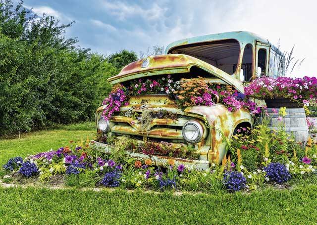 Flower Truck Jigsaw Puzzle Puzzlewarehouse Com