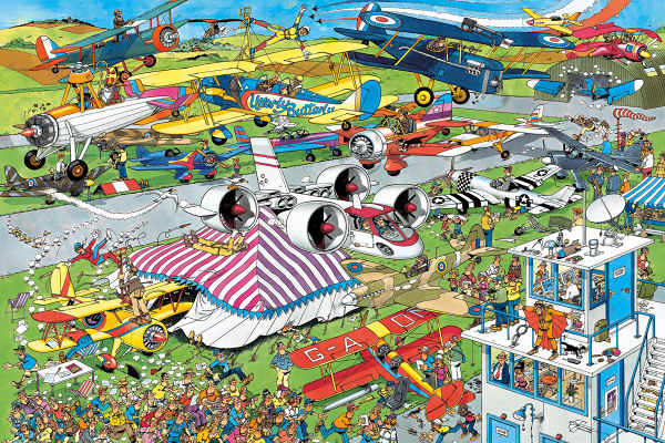 The Airshow Cartoons Jigsaw Puzzle