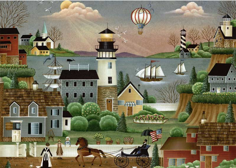 Beacons Cove - Scratch and Dent Lighthouses Jigsaw Puzzle