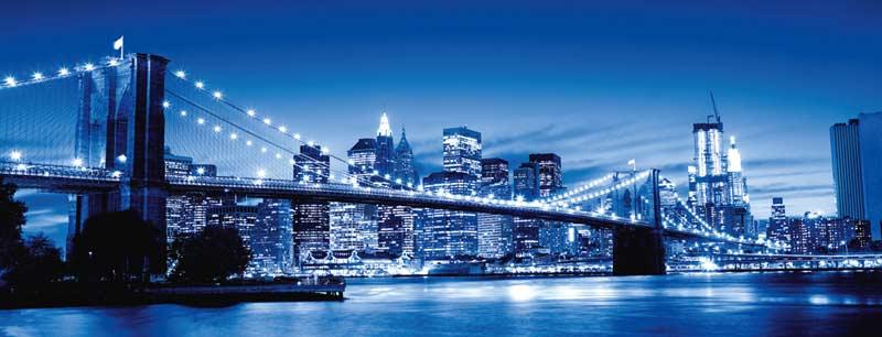 Twilight New York Bridges Jigsaw Puzzle